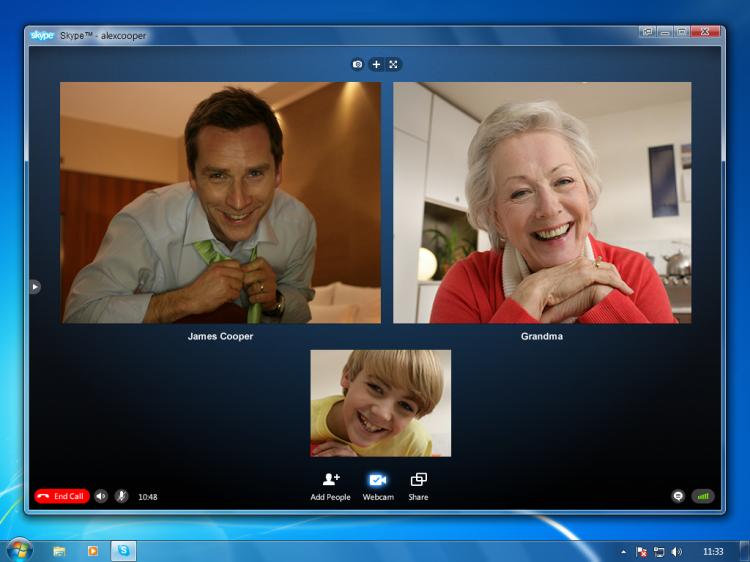 Видео общение через Skype